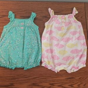 Carters 3m and 6m rompers